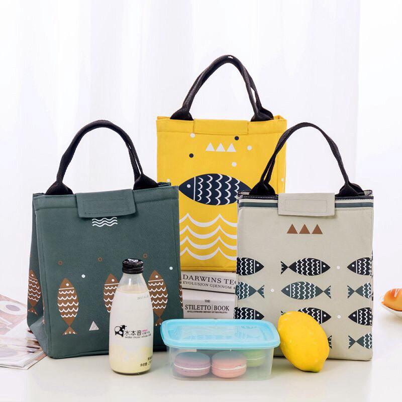 Túi giữ nhiệt đựng hộp cơm hình cá thiết kế mới giá siêu rẻ