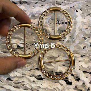 [ảnh chụp thật] đai nịt trang trí hình tròn 3,5cm cách điệu hình xích