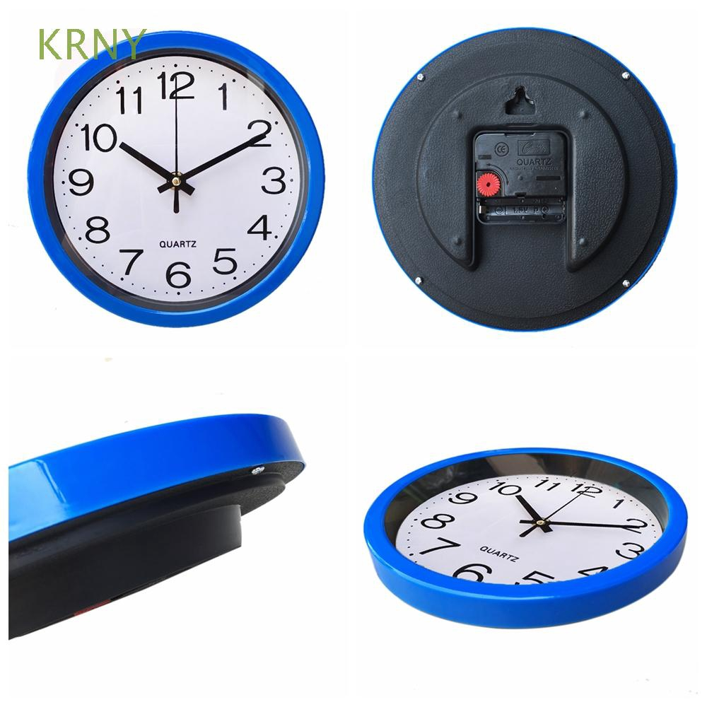KRNY 1 PC Round Modern Bedroom Kitchen Home Decor  Wall Clock