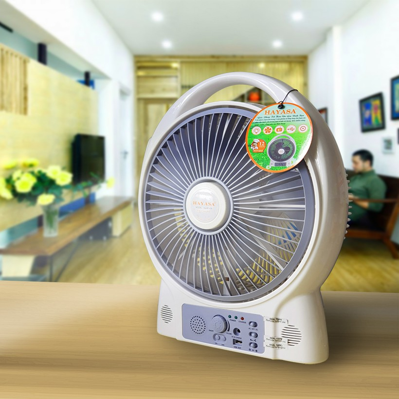[nhập mã HOMEMALL07 giảm 10%] Quạt sạc tích điện để bàn Hayasa HA-900FR công suất 20W