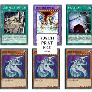 [BÀI IN] Bài YuGiOh – Bộ 54 lá bài trong Deck Cyber Dragon Ultimate