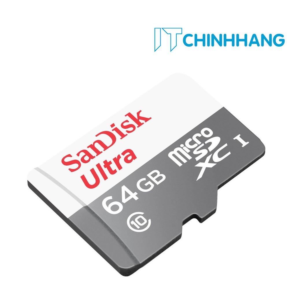 Thẻ Nhớ SANDISK Ultra 64GB Class10-80MB/s - HÃNG PHÂN PHỐI CHÍNH THỨC