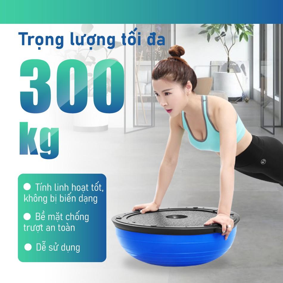 BG Bóng tập YOGA bóng tập thể lực thăng bằng BALL BALANCE Bosu BLUE