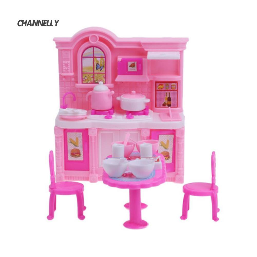 ■Cy Mini Tableware Table Chair Pot Cabinet Doll House Accessories Decoration