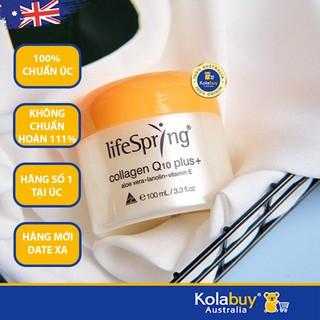 Kem dưỡng da Chống lão hóa của Úc LifeSpring Collagen Q10 Plus+ 100ml