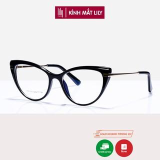 Gọng kính cận nữ Lilyeyewear mắt mèo chất liệu hợp kim không gỉ kiểu dáng thời trang 87025