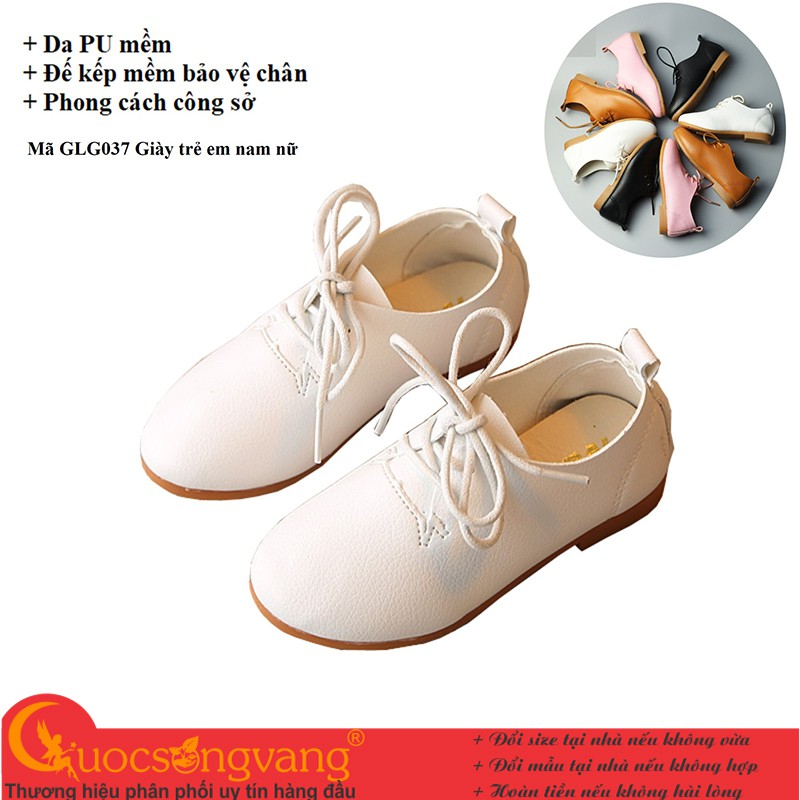 Giày dép bé trai giày bé trai kiểu giày tây đế kếp chống trượt GLG037