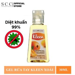 [HB gift] Gel Rửa Tay Khô Diệt Khuẩn 99% Kleen Hương Xoài 30ml