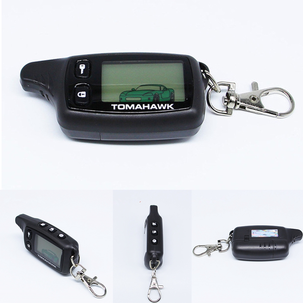 LCD Remote For Tomahawk TW9010 for 9010 Two Way Car Alarm System Russian TW Keychain