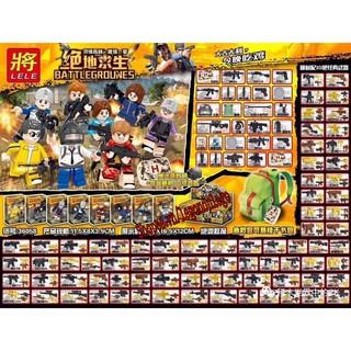 8 nhân vật lego minifigure PUBG full vũ khí và phụ kiện