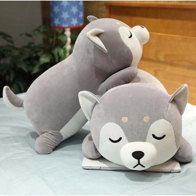 Chó Bông Shiba Nằm Ngủ | Gấu Bông Chó Shiba mềm mịn hàng cao cấp