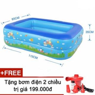 [Giá sập sàn]Bể phao bơi 1m2 2 tầng tặng kèm bơm WENBOH3C