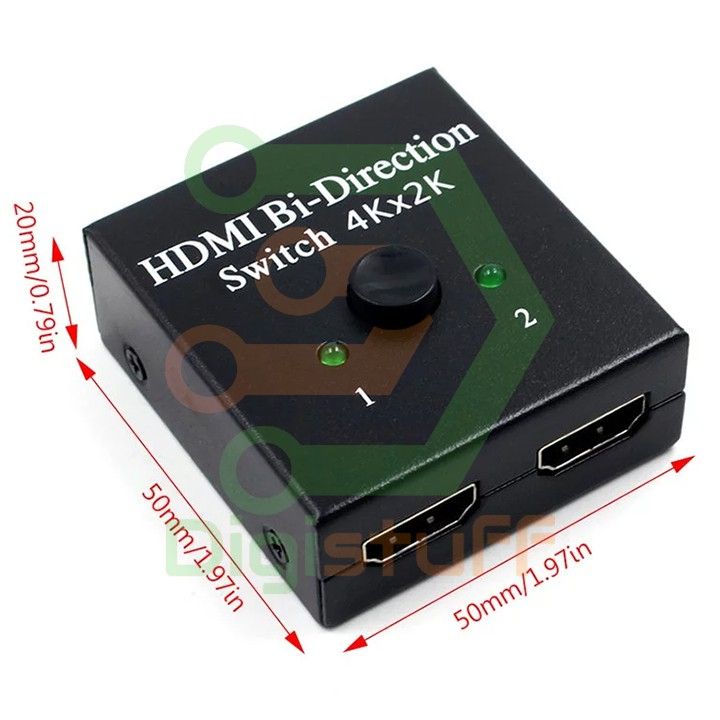 Thiết bị chia kết nối HDMI từ 1 sang 2 màn hình hoặc từ 2 sang 1 màn hình