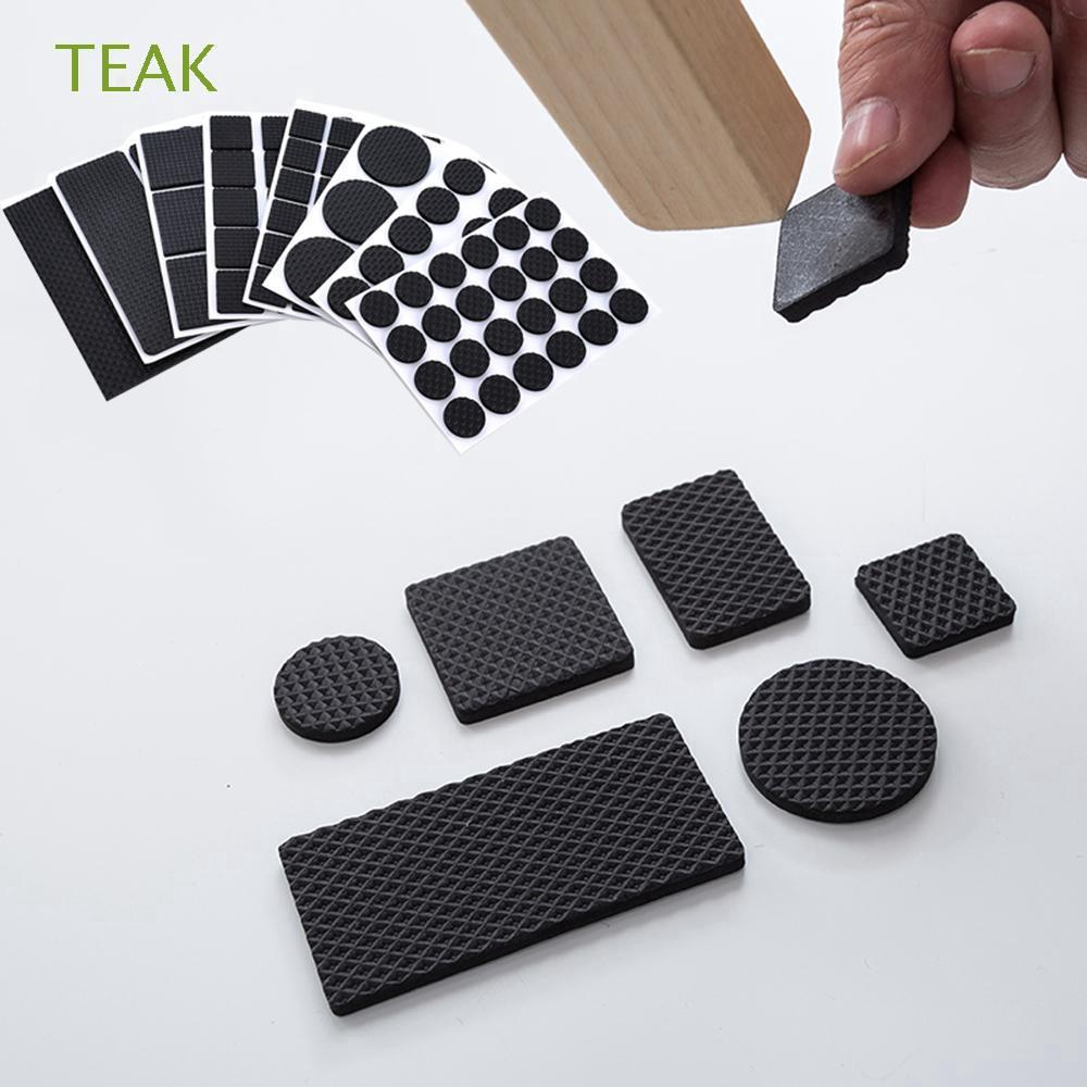 TEAK 1/2/6/15/24PCS Soft Table Self-adhesive Chair Fittings Bumper Furniture Leg Pads