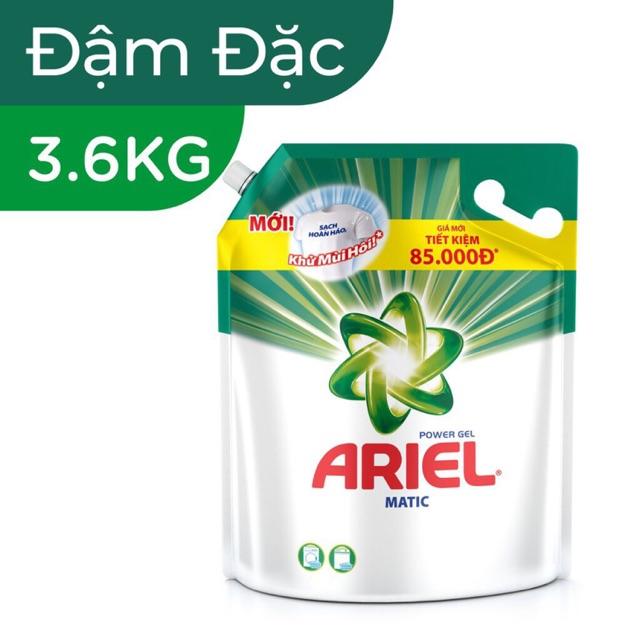 Thanh Hoá - Nước giặt Ariel Matic Túi 3.6KG/ 3.25KG