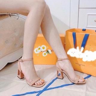 Có sẵn Dép nữ cao gót, sandan nữ 7cm gót vuông đi êm, chắc chân.
