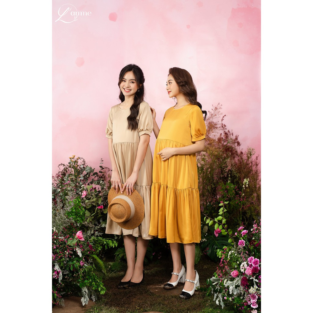 Mặc gì đẹp: Dễ chịu với Váy bầu công sở Mochi Dress - Mẫu đầm suông cho mẹ bầu đi tiệc thiết kế bởi LAMME