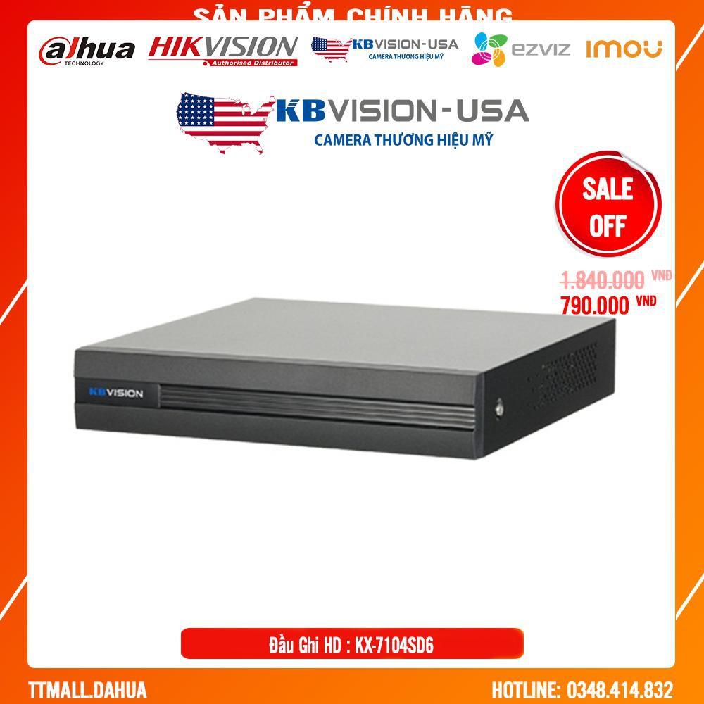 {Giá HỦY DIỆT} ĐẦU GHI 4 kênh 5 in 1 KBVISION KX-7104SD6 - Bảo hành chính hãng  2 năm