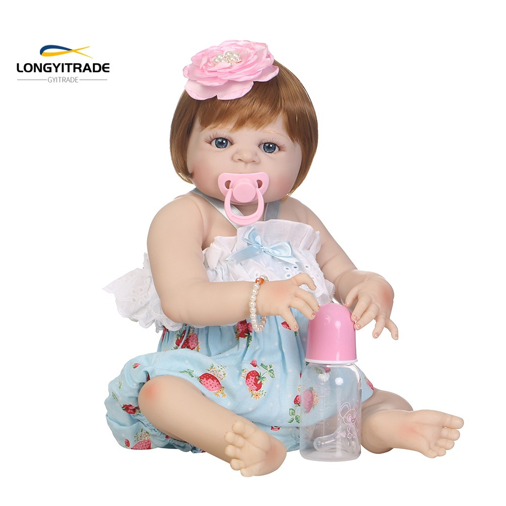 3 Month  born Doll  Vinyl Silicone Reborn  Accompany Toy