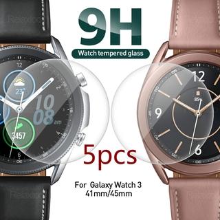 SAMSUNG Set 5 Kính Cường Lực Cao Cấp Bảo Vệ Màn Hình Cho Đồng Hồ Samsung Galaxy Watch 3