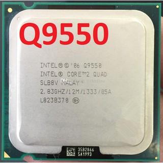 CPU Q9550 #quad core Q9550 2.83ghz/12MB chip Q95xx ,tản nhiệt 8 ống đồng