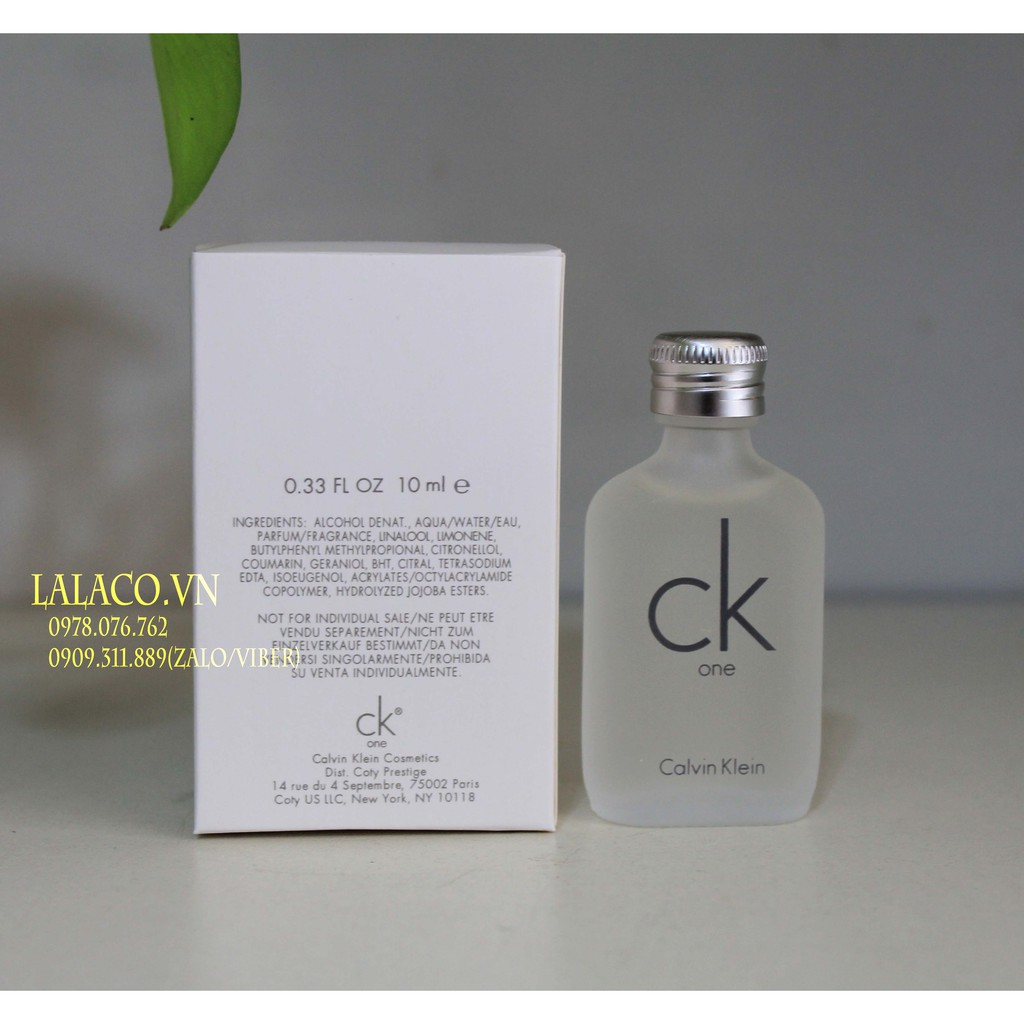 Nước hoa mini Unisex Calvin Klein CK One 15ml