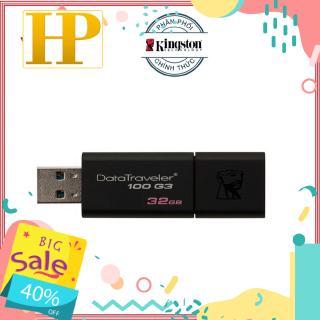 [Mã ELFLASH5 giảm 20K đơn 50K] USB 3.0 Kingston 32GB 100G3 Đen - Hãng phân phối chính thức