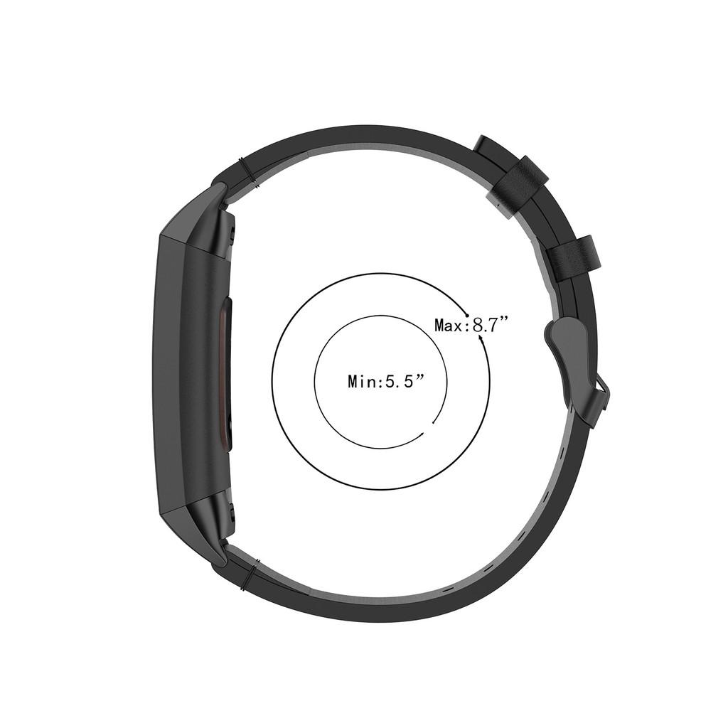 Dây Đeo Bằng Da Thật Cho Đồng Hồ Thông Minh Fitbit Charge 3 / Charge 3 Se / Charge 4