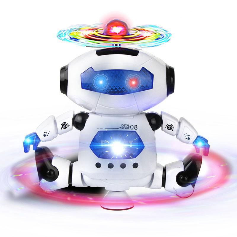 Dancing Musical Electronic Robot Flashing Light Mobile Kids Toy