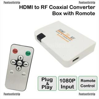 Hộp chuyển đổi cổng HDMI sang RF kèm remote điều khiển