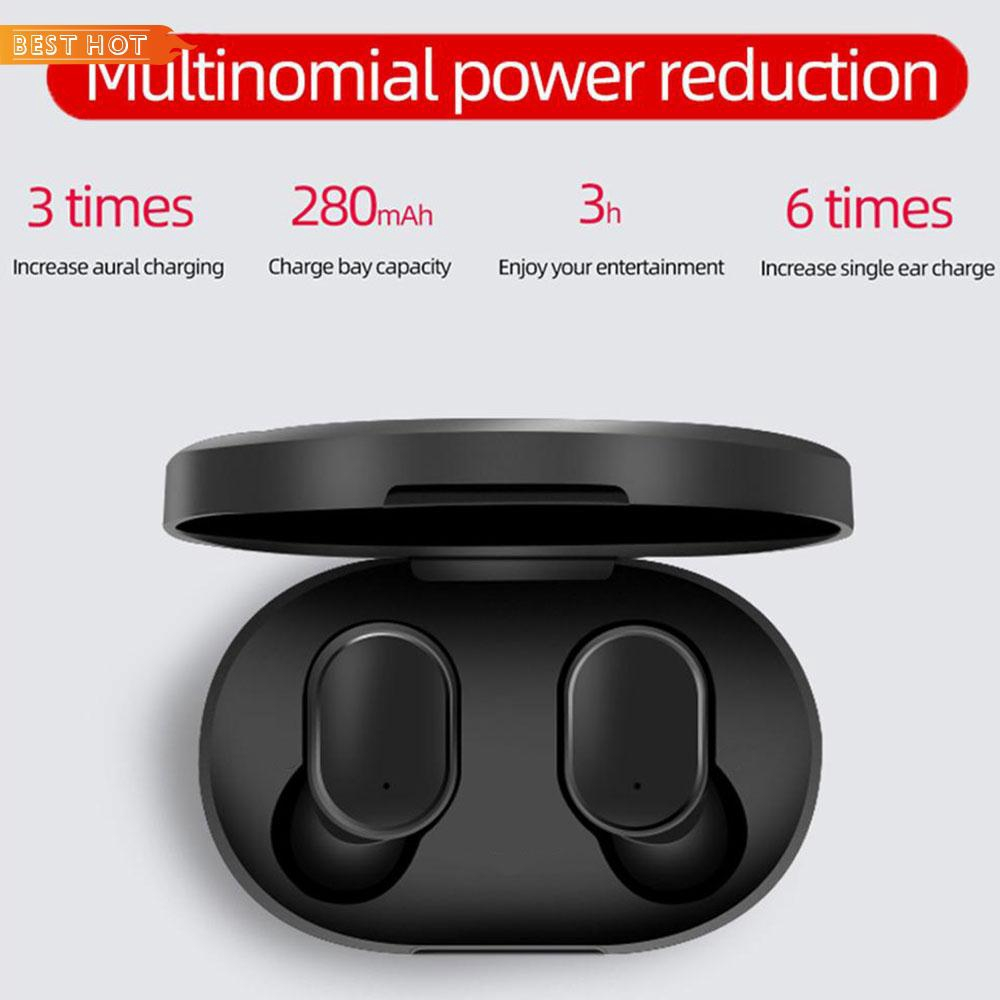 Wireless Bluetooth Headphone Mini TWS Invisible Earphones Bluetooth 5.0 Sport Voice Message Stereo Hearset Giá chỉ 315.900₫