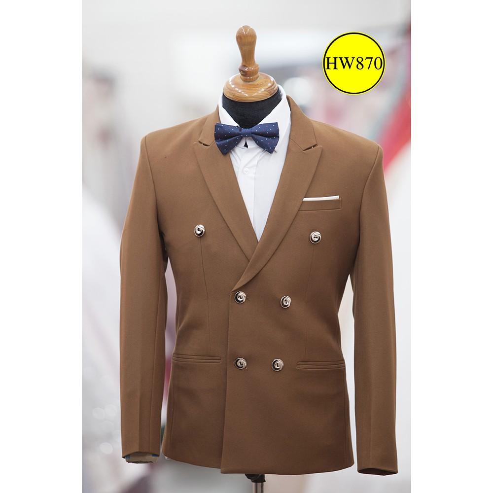áo vest nam - suit luxury dòng 6 nút - Áo Vest