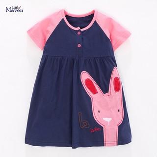 Váy Little Maven thun cotton thỏ