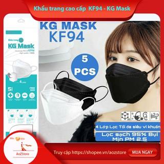 Khẩu trang KF94 KG MASK cao cấp 4 lớp kháng khuẩn gói 5c thumbnail
