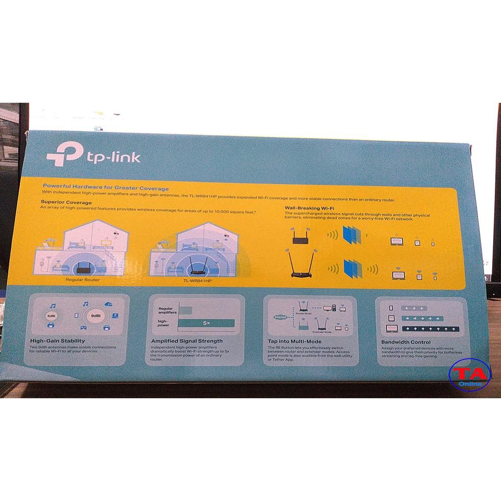 Bộ phát wifi công suất cao Tplink WR841HP - Công suất lên tới 1000mW - 2 anten 9dbi