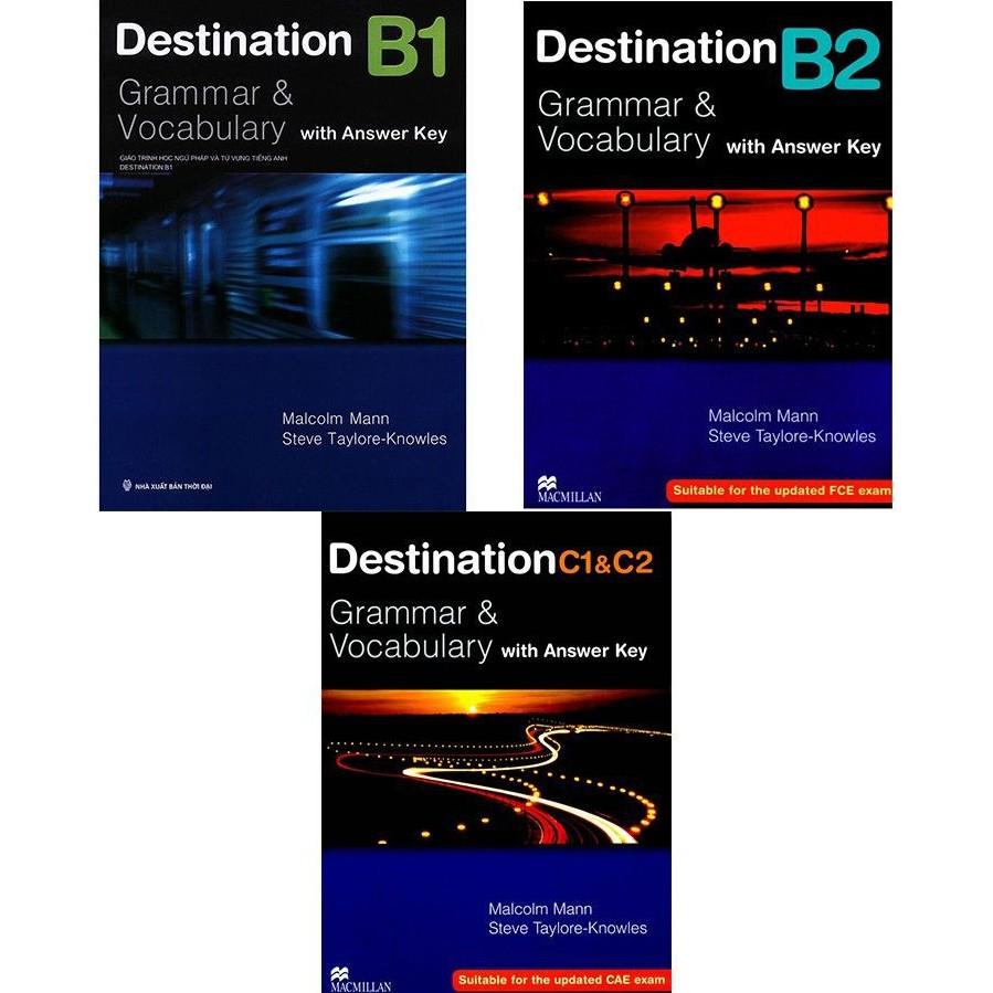 Combo sách - Destination Grammar & Vocabulary B1, B2 và C1&C2 (Bộ 3 cuốn)