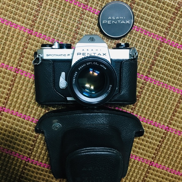 Máy ảnh film Pentax Spotmatic F + lens SMC Takumar 50f1.4 ngàm M42