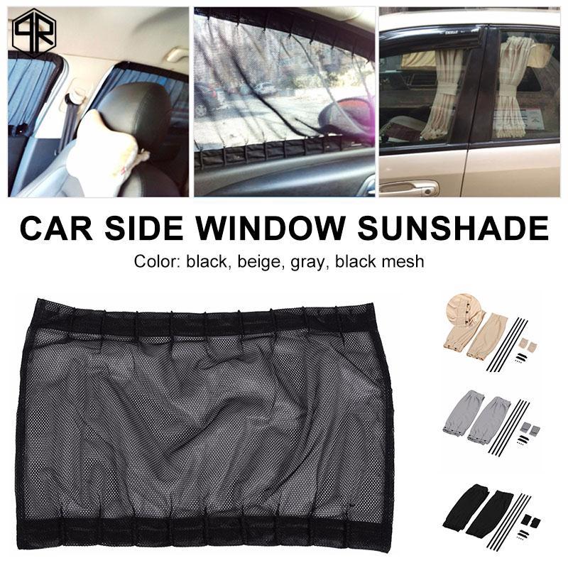 QR Car SunShade 2pcs Multicolor Front Windshield Durable
