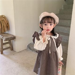 Áo Tay Dài Và Váy Ngắn Thời Trang Cho Bé Gái
