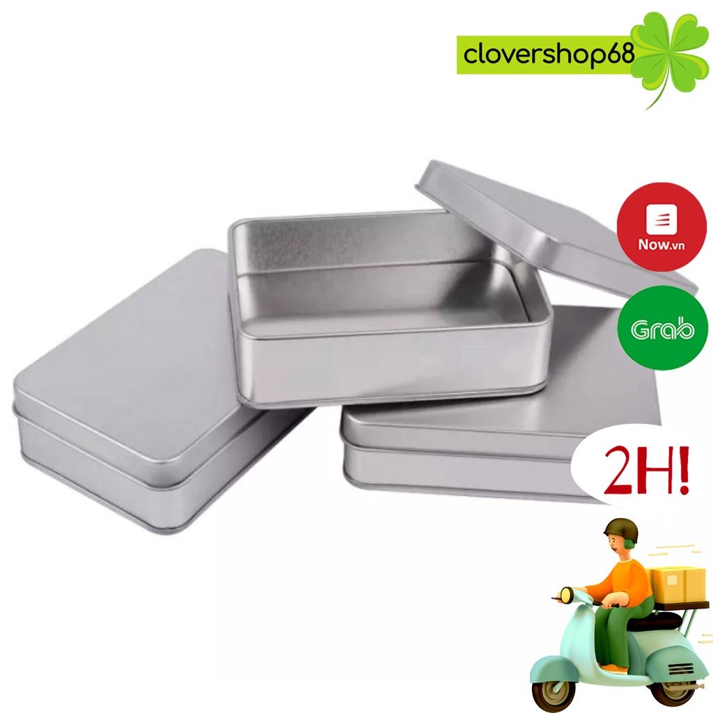 Hộp thiếc đựng trang sức, phụ kiện bạc  🍀 Clovershop68 🍀