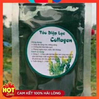 Tảo diệp lục collagen gói 100g handmade chống lão hóa