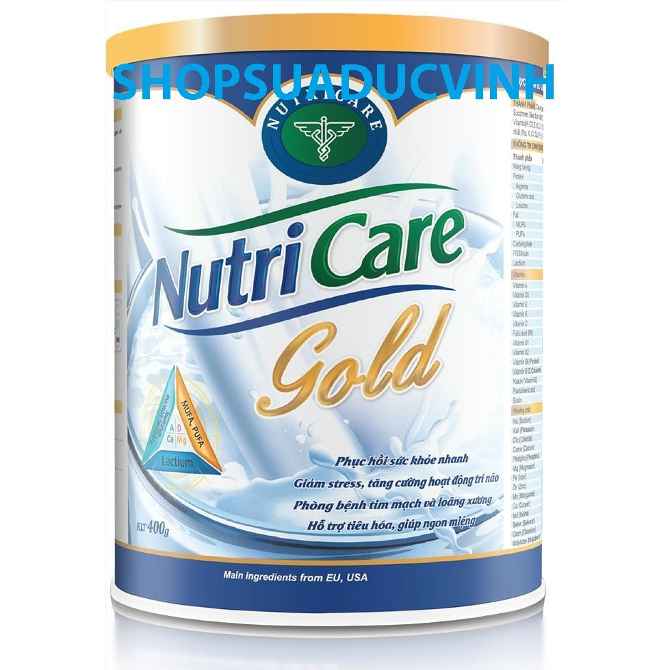 Sữa bột NutriCare Gold 900g date 2020