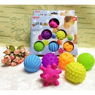 Bộ 6 quả cầu silicon nhiều màu sắc cho bé