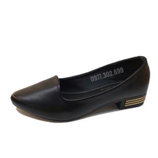 Giày nữ công sở- giày nữ búp bê da mềm êm chân( chân dày nên tăng 1 size) thumbnail