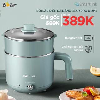 Nồi nấu điện Bear ,hấp lẩu đa năng,1.2 Lít,Bảo Hành 18 Tháng DRG-D12M5 (Hàng Có Sẵn)