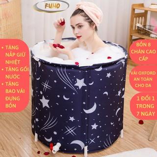 Bồn tắm gấp gọn cho người lớn 6 lớp FUHO, làm từ vải Oxford , chống thấm, cách nhiệt lên đến 3 giờ