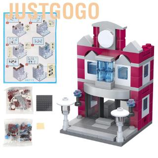 Justgogo 126 Pcs Children Kids Baby Building Blocks Clothing Store City Street View Puzzle Toys for Toddle