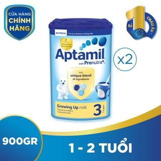 Bộ 2 hộp sữa bột công thức Aptamil số 3 (900g hộp)