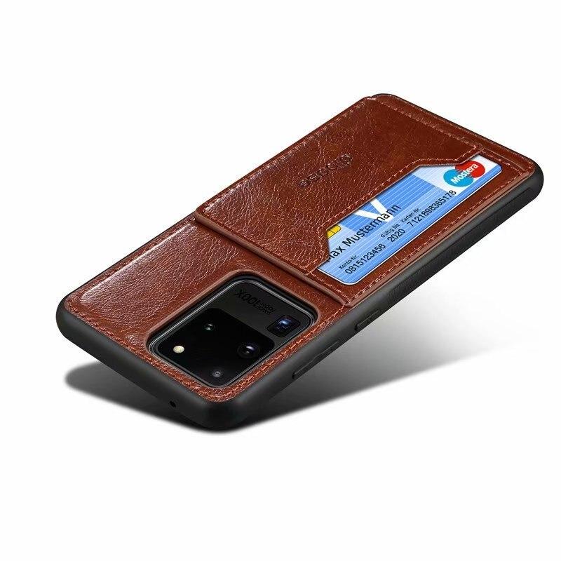 KIỂU DÁNG: Bao da Ví đựng thẻ sang trọng Ốp lưng cho Samsung Galaxy S21 Note 20 Ultra S20 S20 Plus Coque