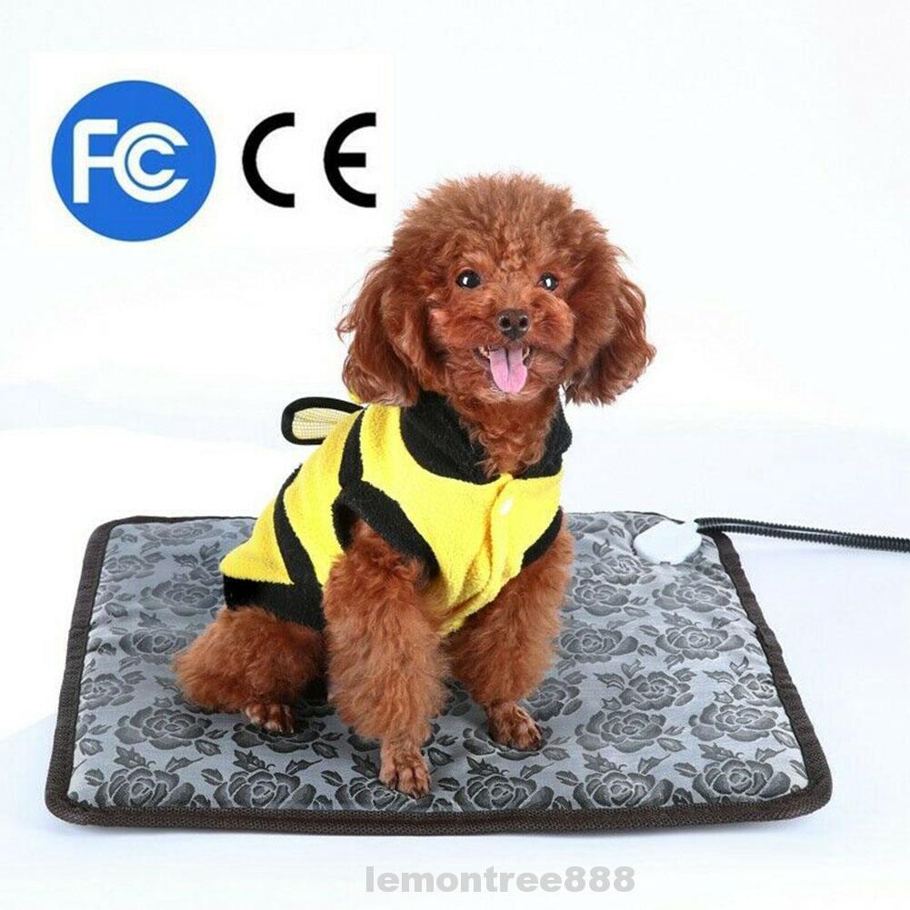 Electric Temperature Adjustable Puppy Dog Protection Wear Resistant Waterproof Living Room Bedroom Pet Heating Mat